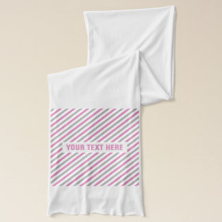 Pink & Silver Stripes custom scarf