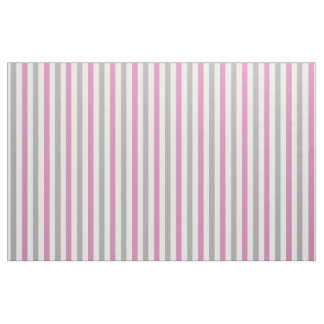 Pink & Silver Stripes customizable fabric