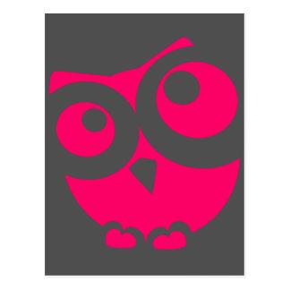 Pink Simple Owl Postcard
