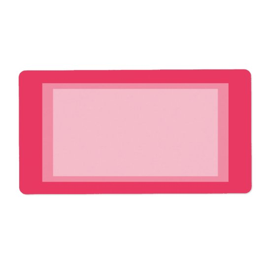 pink simple shipping label