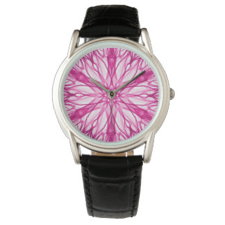 Pink Six Pointed Fractal Watch