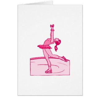 Pink Skater Spin Greeting Card