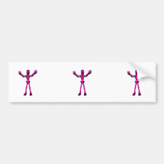 Pink Skeleton Bumper Sticker