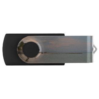 Pink Skies in Aruba Swivel USB 2.0 Flash Drive