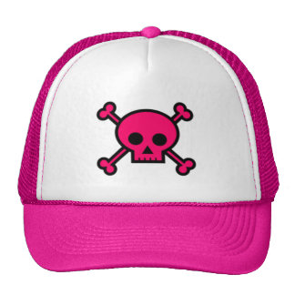 Pink Skull and Cross Bones Cap