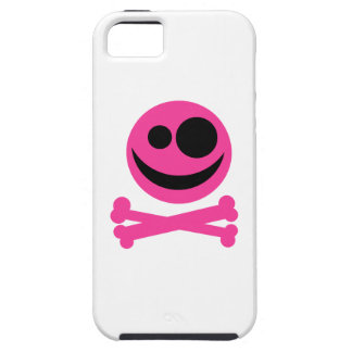 Pink Skull and Crossbones. Hot Pink and Black. iPhone 5 Cases