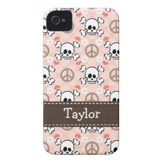 Pink Skull and Crossbones iPhone 4 4s Case-Mate Co
