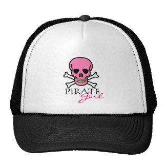 Pink Skull and Crossbones Pirate Girl Cap