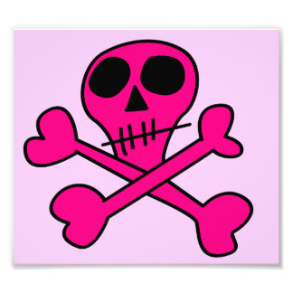 pink skull art photo