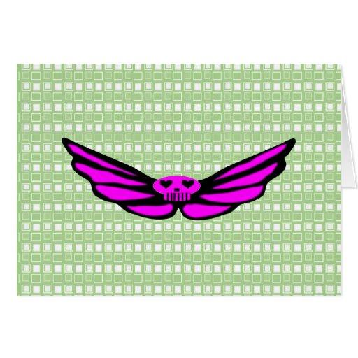Pink Skull Cards