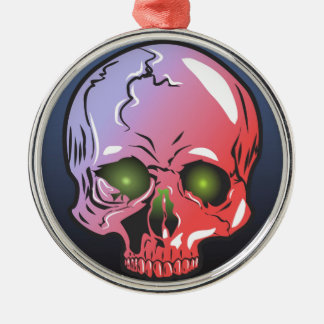 Pink skull christmas ornament