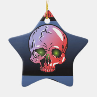 Pink skull christmas ornament