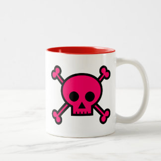 'Pink Skull & Crossbones' Coffee Mug