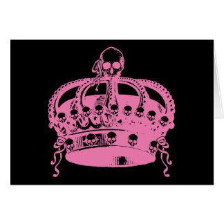 Pink Skull Crown Greeting Card