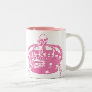 Pink Skull Crown Mugs