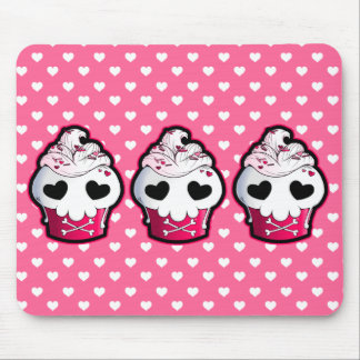 Pink Skull Cupcake Mouse Mat