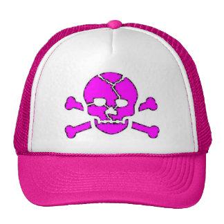 pink skull hat