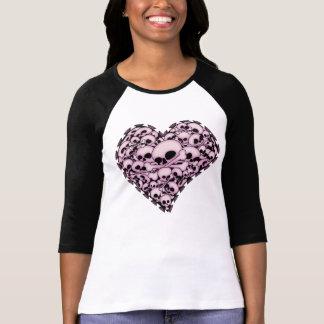 Pink Skull Heart T-shirt