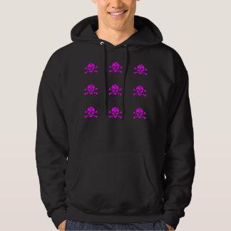 pink skull hoodie