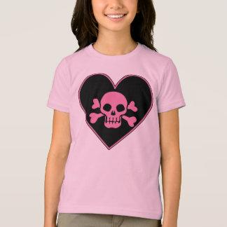 Pink Skull in Heart Tshirts