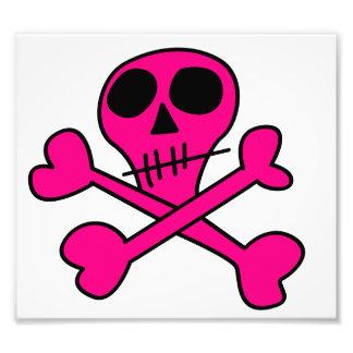 pink skull photo