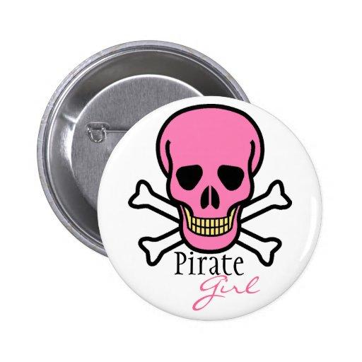 Pink Skull-Pirate Girl Pin