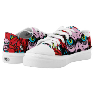 Pink Skull Printed Shoes