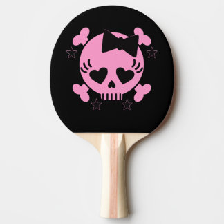 Pink Skull Table Tennis Racket Ping Pong Paddle