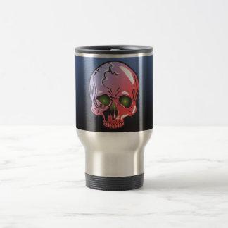 Pink skull travel mug