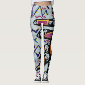 Pink Skull Tree Leggings