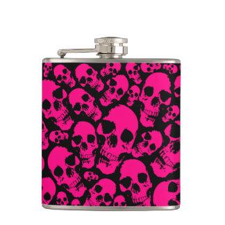 Pink Skulls Flask