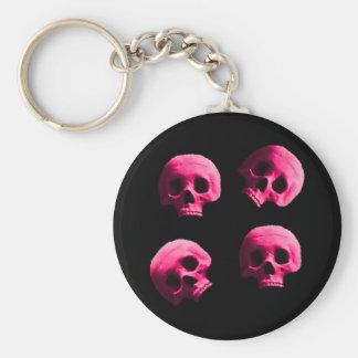 Pink Skulls Keychain
