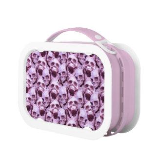 Pink Skulls Lunch Box