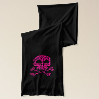 Pink Skulls Scarf