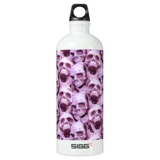 Pink Skulls Water Bottle