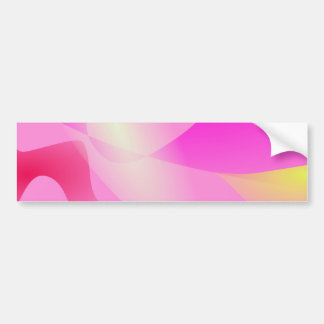 Pink Sky and the Horizon Art Bumper Stickers
