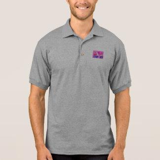 Pink Sky and the Horizon Art Polo Shirts