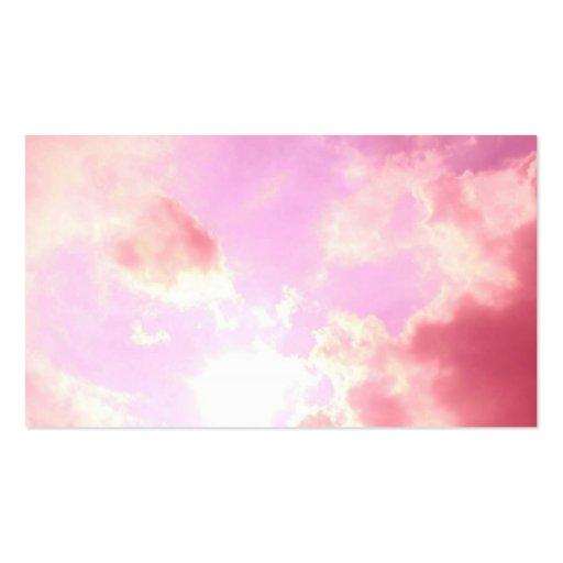 Pink Sky Business Card Template