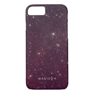 Pink Sky Pattern With Stars iPhone 8/7 Case