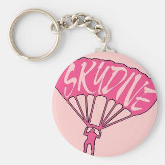 Pink skydive fanatic keychain