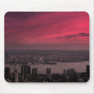 Pink Skyline Mouse Mat