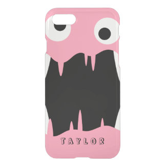 Pink Slime Monster | Custom Name iPhone 8/7 Case