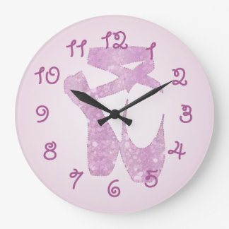 pink slippers large clock