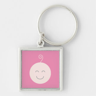 Pink Smile Baby Keychain