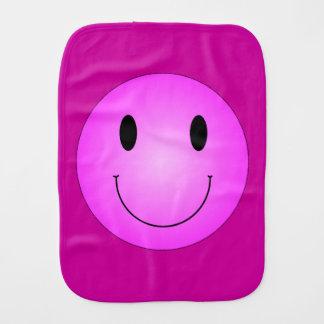 Pink Smiley Burp Cloth