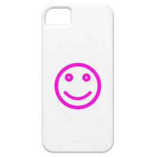 Pink Smiley Face iPhone 5 Cases