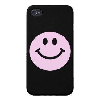 Pink smiley face iPhone 4/4S case