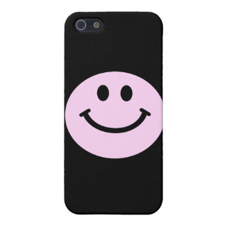 Pink smiley face iPhone 5 covers
