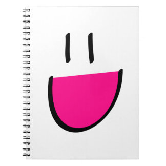 Pink Smiley Face Notebook (Ringed)
