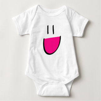 Pink Smiley Infant Creeper (Baby grow/Romper)